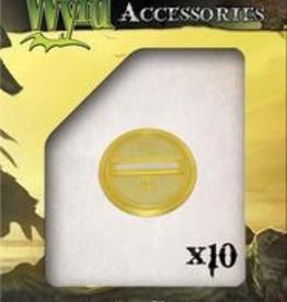 WYR - Malifaux Zubehör Gold Translucent Bases 30mm (10)