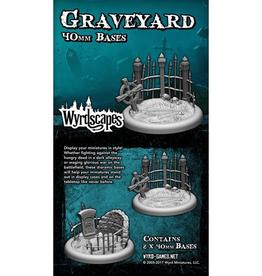 WYR - Malifaux Zubehör Graveyard 40MM - 2 x Wyrdscapes Scenic Bases