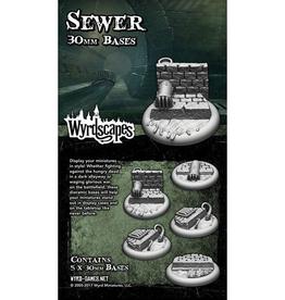WYR - Malifaux Zubehör Sewer 30MM - 5 x Wyrdscapes Scenic Bases