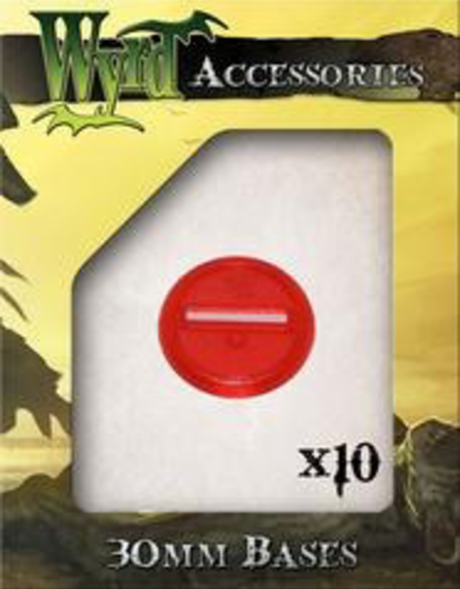 WYR - Malifaux Zubehör Red Translucent Bases 30mm (10)