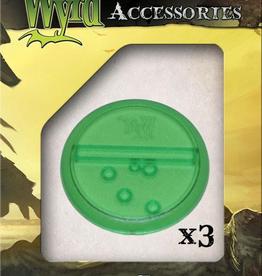 WYR - Malifaux Zubehör Green Translucent Bases 50mm (3)