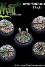 WYR - Malifaux Zubehör Victorian 30MM - 5 x Wyrdscapes Scenic Bases