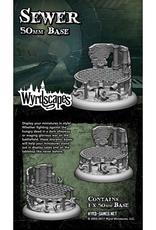 WYR - Malifaux Zubehör Sewer 50MM - 1 x Wyrdscapes Scenic Base
