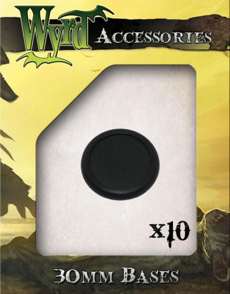 WYR - Malifaux Zubehör Plastic Bases - 30mm (10 pack)