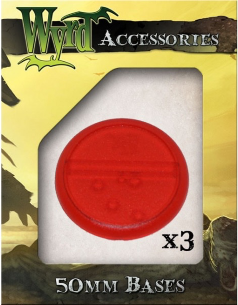 WYR - Malifaux Zubehör Red Translucent Bases 50mm (3)