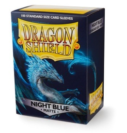 DS - Standard Sleeves Dragon Shield Standard Matte Sleeves - Night Blue (100 Sleeves)