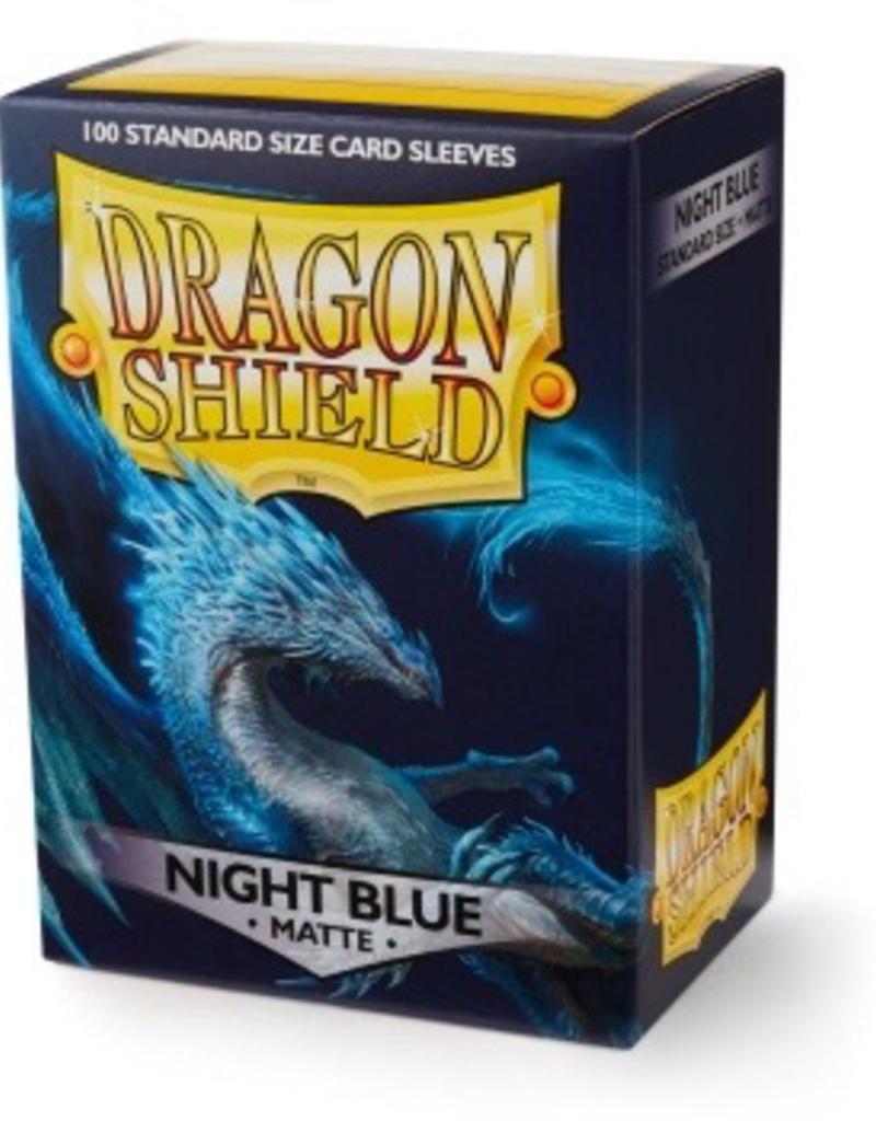 DS - Standard Sleeves Dragon Shield Standard Matte Sleeves - Night Blue (100 Sleeves)