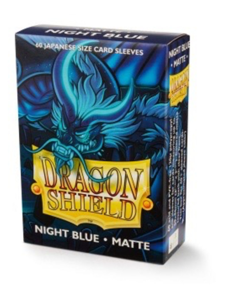 DS - Small Sleeves Dragon Shield Japanese Matte Sleeves - Night Blue Delphion (60 Sleeves)