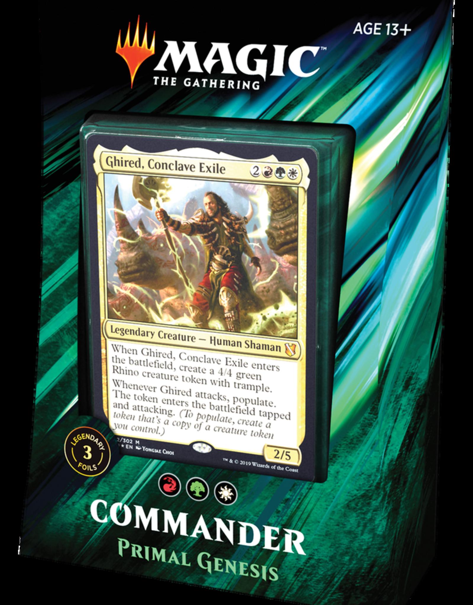 MTG - Commander MTG - Commander 2019 Deck Primal Genesis - EN