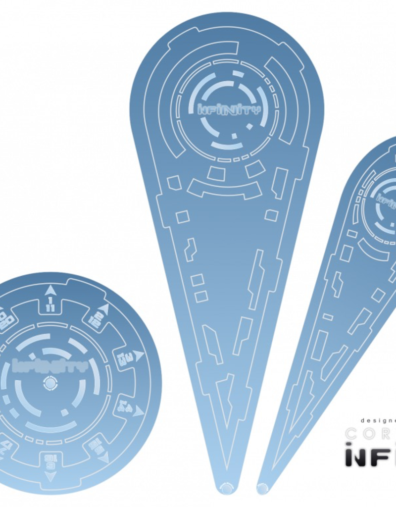 "MicroArt - Zubehör Infinity Templates ""Blue"" (3)"