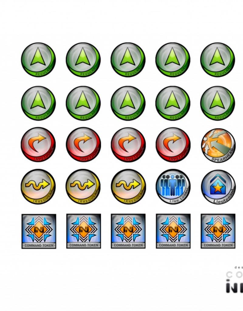 MicroArt - Zubehör Infinity Tokens Command & Control (25)