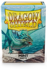 DS - Standard Sleeves Dragon Shield Standard Sleeves - Matte Mint (100 Sleeves)