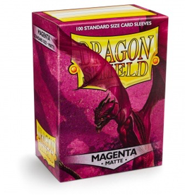 DS - Small Sleeves Dragon Shield Standard Sleeves - Matte Magenta (100 Sleeves)