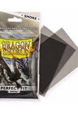 DS - Standard Sleeves Dragon Shield Standard Perfect Fit Sleeves - Clear/Smoke (100 Sleeves)