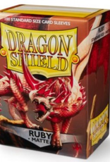 DS - Small Sleeves Dragon Shield Standard Sleeves - Matte Ruby (100 Sleeves)