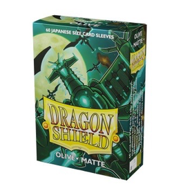 DS - Small Sleeves Dragon Shield Small Sleeves - Japanese Matte Olive (60 Sleeves)