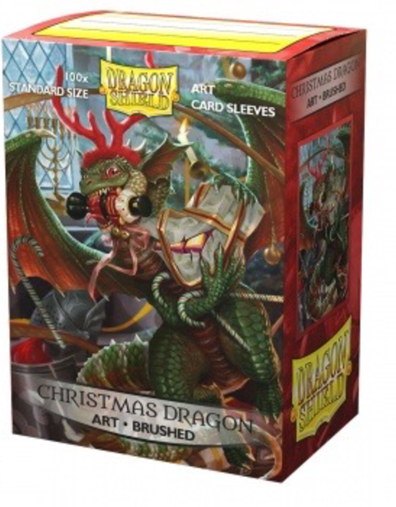 DS - Standard Sleeves Dragon Shield Brushed Art Sleeves - Christmas Dragon 2020 (100 Sleeves)