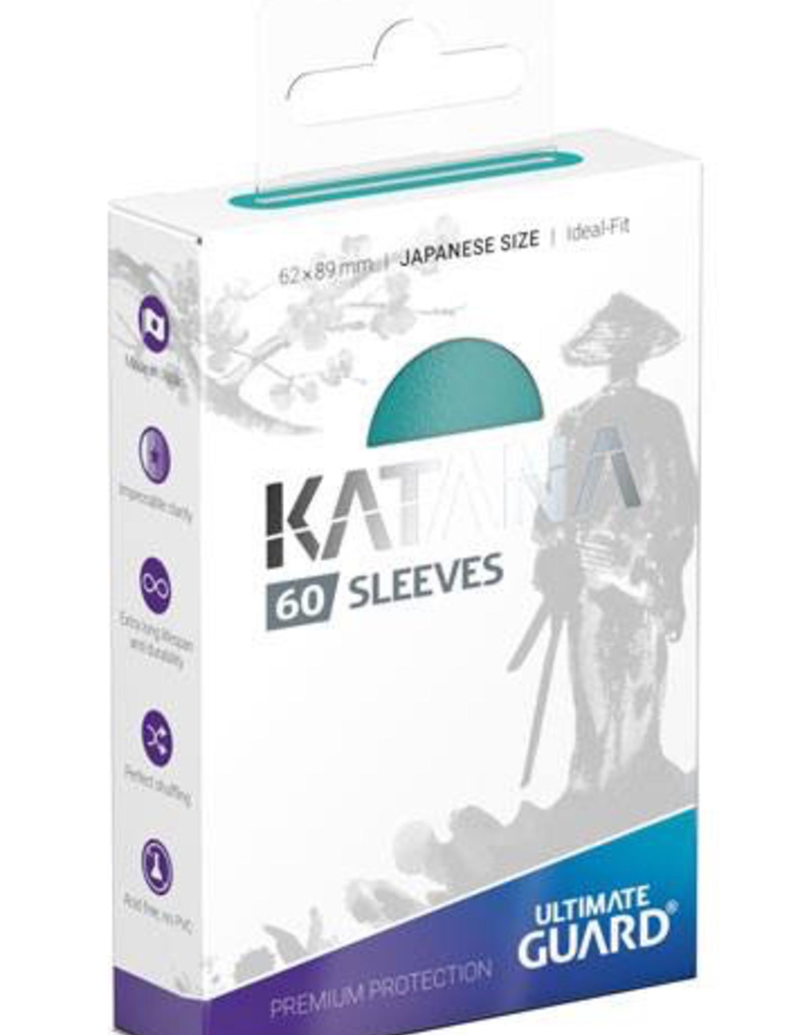 UG - Small Sleeves Ultimate Guard Katana Sleeves Japanische Größe<br /> Türkis (60)