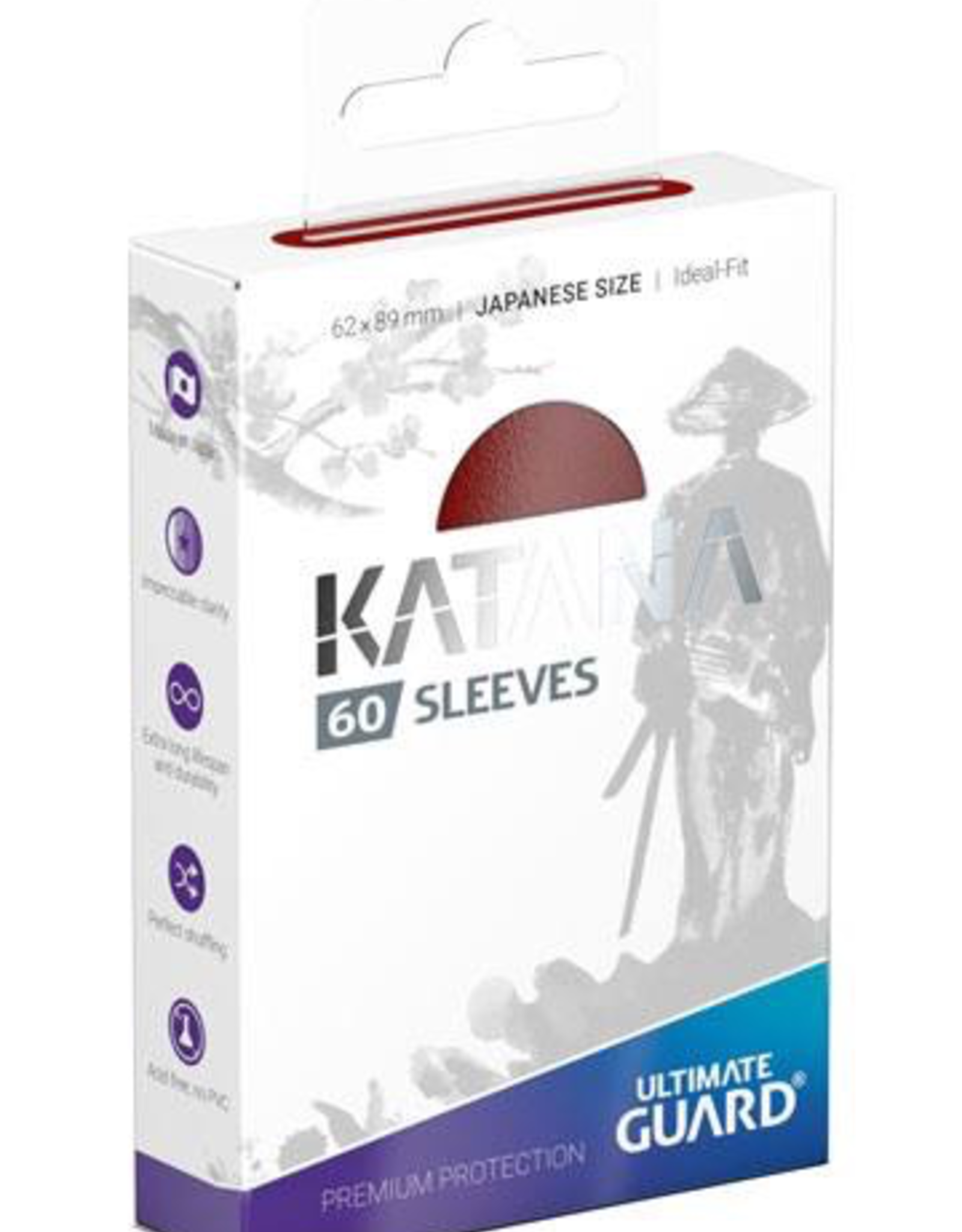 UG - Small Sleeves Ultimate Guard Katana Sleeves Japanische Größe Rot<br /> (60)