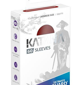 UG - Small Sleeves Ultimate Guard Katana Sleeves Japanische Größe Rot<br /> (60)