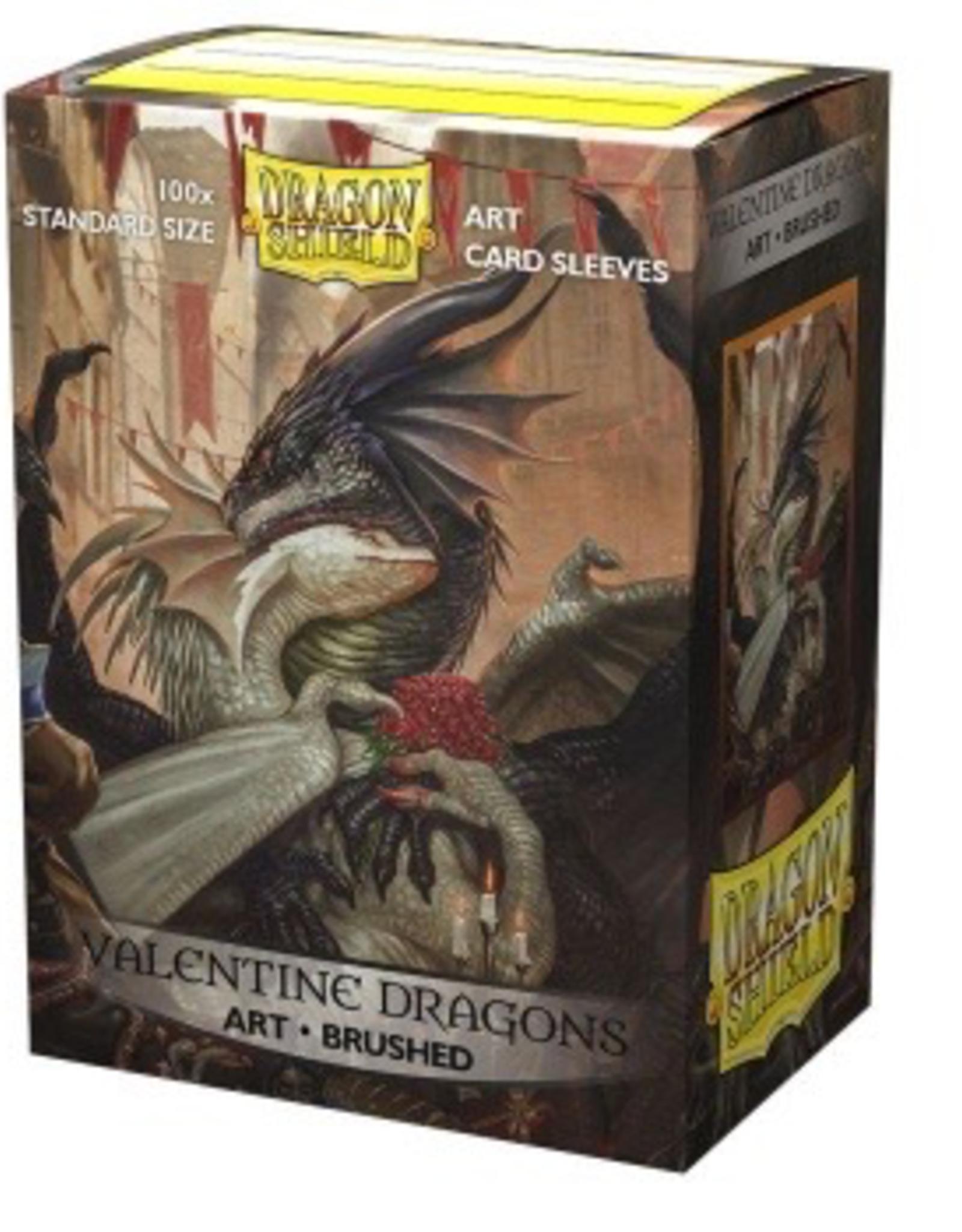 DS - Standard Sleeves Dragon Shield Brushed Art Sleeves - Valentine Dragon 2021 (100 Sleeves)