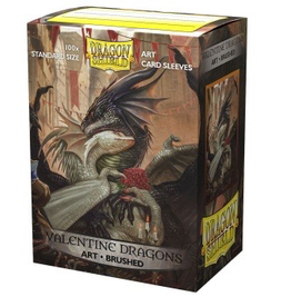 DS - Standard Sleeves Dragon Shield Brushed Art Sleeves - Valentine Dragon 2021 (100 Sleeves)