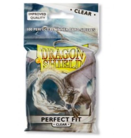 DS - Standard Sleeves Dragon Shield Standard Perfect Fit Sleeves - Clear/Clear (100 Sleeves)
