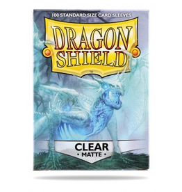 DS - Standard Sleeves Dragon Shield Standard Sleeves - Matte Clear (100 Sleeves)