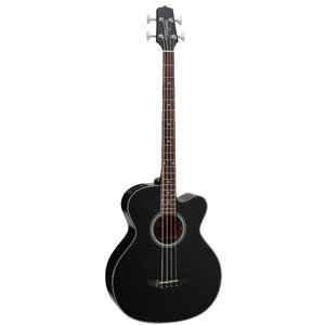 Takamine GB30CE-BLK Acoustic Bass, Solid Spruce Top, Mahogany Back w/ TK-40D Pickup, Black