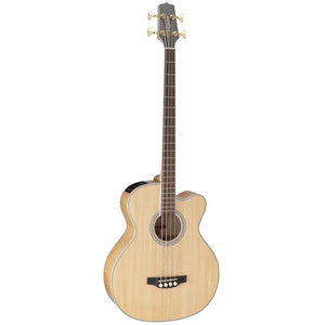 Takamine GB72CE-NAT Acoustic Bass, Solid Spruce Top, Flame Maple Back w/ TK-40D Pickup, Black