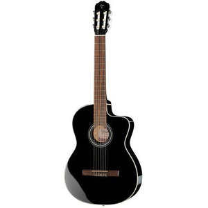 Takamine GC1CE-BLK Classical Cutaway, Gloss Spruce Top, Maghogany Back w/ TP-E Pickup, Black