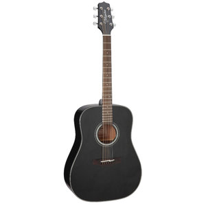 Takamine GD30-BLK Dreadnought, Solid Spruce Top, Mahogany Back, Black