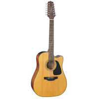 Takamine GD30CE-12-NAT 12-String, Dreadnought Cutaway, Gloss Solid Spruce Top, Mahogany Back w/ TP-4TD Pickup