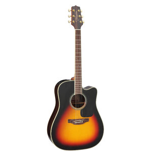 Takamine GD51CE-BSB Dreadnought, Cutaway Electro, Sunburst Solid Spruce Top, Rosewood Back