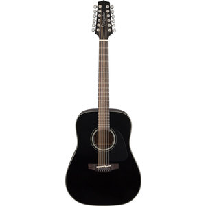 Takamine GD30-12-BLK 12-String, Dreadnought, Solid Spruce Top, Mahogany Back, Black