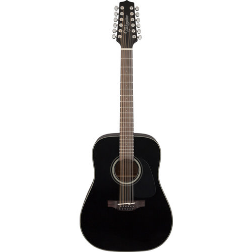 Takamine Takamine GD30-12-BLK 12-String, Dreadnought, Solid Spruce Top, Mahogany Back, Black