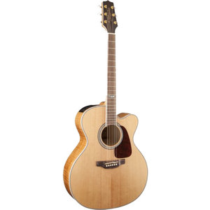 Takamine GJ72CE-NAT Jumbo Cutaway, Solid Spruce Top, Figure Maple Back w/ TK-40D Pickup