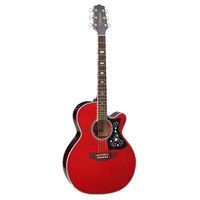 Takamine GN75CE-WR NEX, Solid Spruce Top, Quilted Maple Back w/ TK-40D Pickup, Wine Red