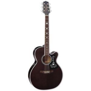 Takamine GN75CE-BK NEX, Solid Spruce Top, Quilted Maple Back w/ TK-40D Pickup, Black