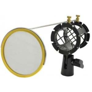 Citronic SMH50 Microphone Shock Mount w/ Integrated Pop Shield
