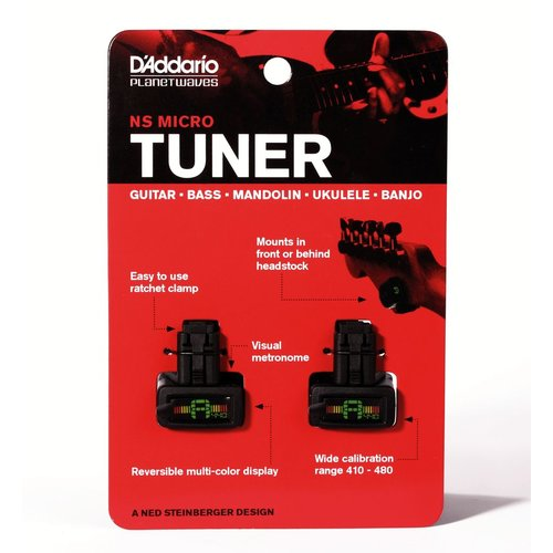 Planet Waves Planet Waves PW-CT-12 NS Micro Headstock Tuner, Value Twin Pack