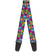 Buckle Down Flower Blossom Guitar Strap