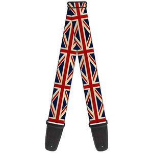 Buckle Down Vintage UK Flags Guitar Strap
