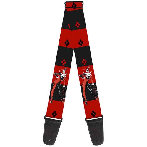 Buckle-Down Buckle Down Harley Quinn Black Red Guitar Strap
