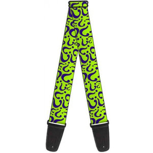 Buckle Down The Riddler Question Mark Guitar Strap