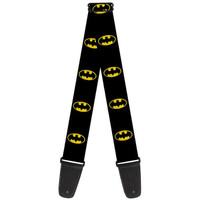Buckle Down Batman Shield Black/Yellow Guitar Strap