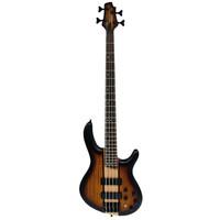 Cort C4 Artisan Bass Guitar, Open Pore Tobacco Burst