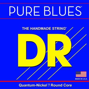 DR Pure Blues Bass String Set, Quantum Nickel, Round Core