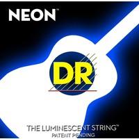 DR Neon Acoustic String Set, White