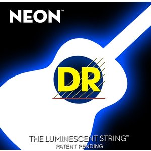 DR Neon Acoustic String Set, White